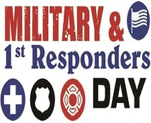 military and first responders day icon